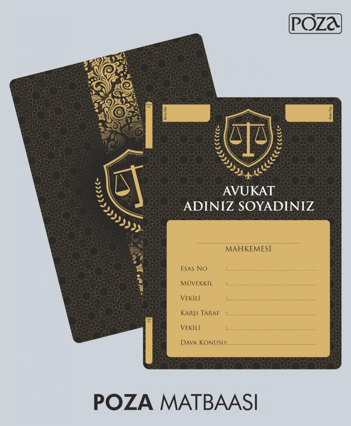 avukat büro dosyası model 3